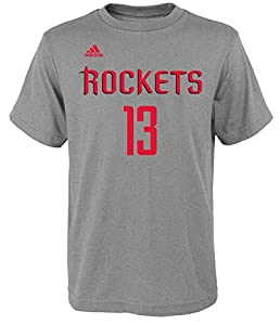 b78b2acd348 ... Adidas James Harden Houston Rockets 13 Youth NBA Name Number T-Shirt  Grey ...