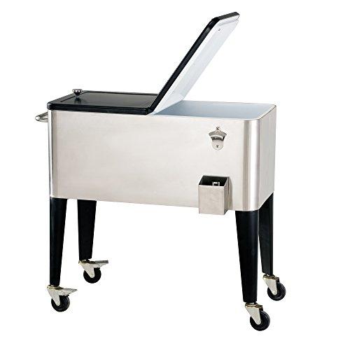 Sunjoy Polar Rolling Cooler, Silver