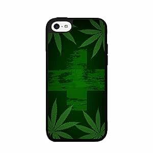 Medical Marijuana Flag Plastic Fashion Phone Case Back Cover iPhone 5c