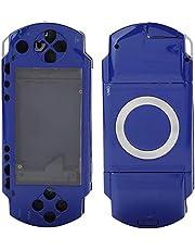 Capa de jogo PSP1000, todos os soquetes reservados de fácil mudança PSP 1000, capa de substituição para PSP1000, design de aparência é novo para capa de Game Shell Peripherals PSP1000 (azul)