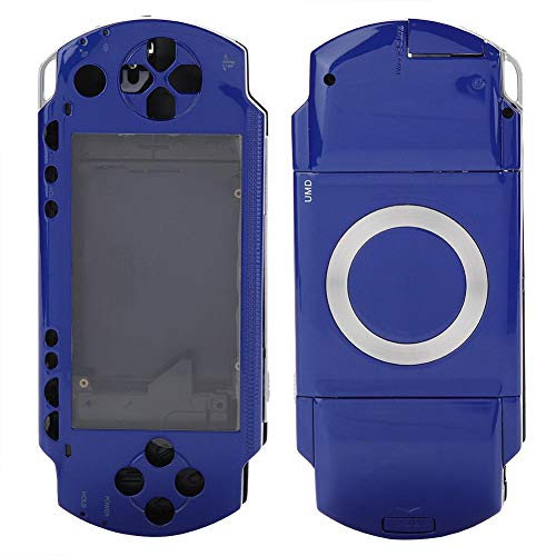 (ASHATA Full Housing Repair Mod Case + Buttons Replacement Compatible for Sony PSP 1000 Console(Blue))
