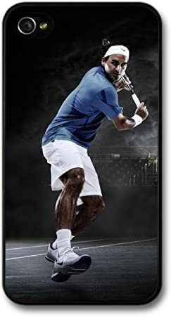 Heloog Roger Federer Playing Blue Black Tennis Player Case For Iphone 4 4s Amazon Co Uk Electronics