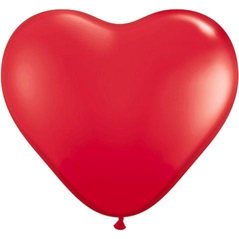 PIONEER BALLOON COMPANY Heart Latex Balloon, 11, Red by PIONEER BALLOON COMPANY