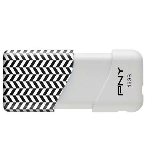 PNY Compact Attaché 16GB USB 2.0 Flash Drive, Herringbone...