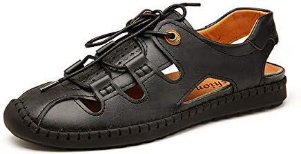靴サンダル用男性ファッションカジュアルレースアップ快適な中空と衝突防止屋外ウォーターシューズ