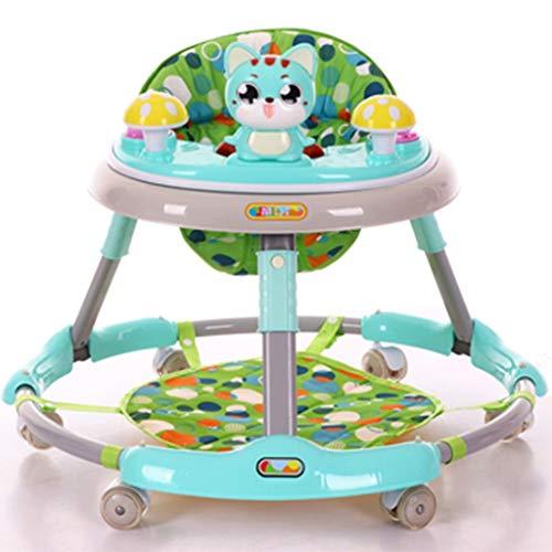 Andaderas Caminador de desarrollo Andador de actividad Walker anti-rollover multi-función de empuje de bebé para niños...
