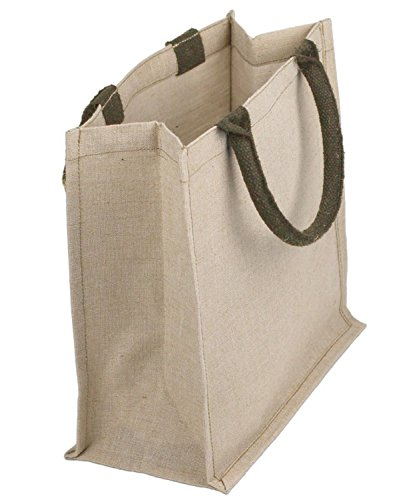 BagzDepot Reusable Jute  Cotton Blend Cute Burlap Top Handle Bags, Fashionable Wholesale Jute Tote Bags – TJ890 (6)