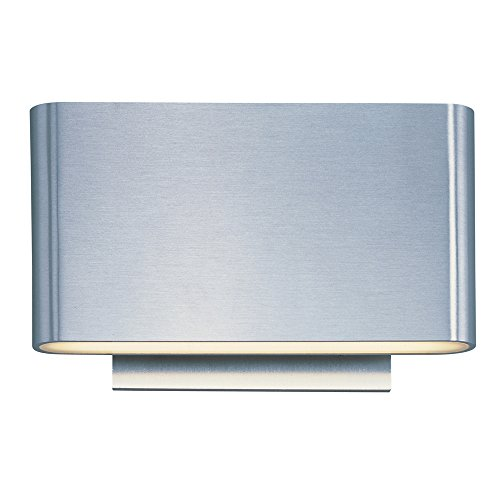 - ET2 Lighting E41310-SA Sconce with Metal Shades, Satin Aluminum Finish