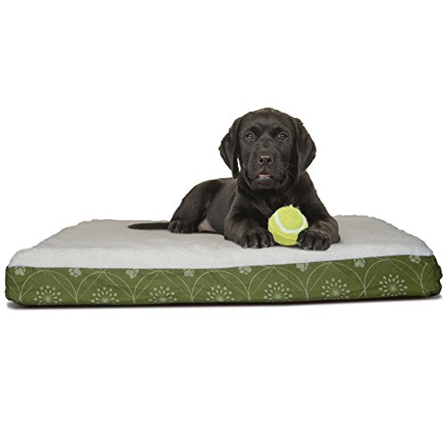 Furhaven Pet Dog Bed Available in Multiple Colors /& Styles Deluxe Orthopedic Traditional Mat Rectangular Step-On Foam Mattress Pet Bed w//Removable Cover for Dogs /& Cats