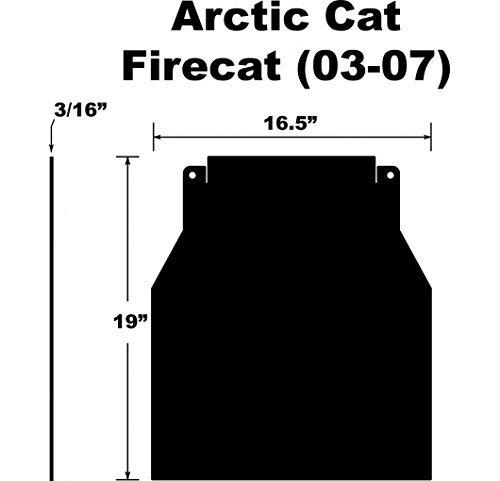 Proven Design SF-037FCPB Snowmobile Mud Flap Arctic Cat Firecat/Sabercat 2003-2007 Plain Black Snow Flap