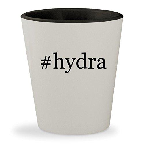 #hydra - Hashtag White Outer & Black Inner Ceramic 1.5oz Shot Glass