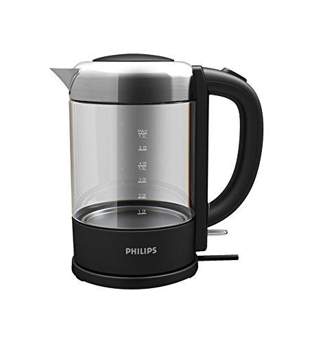 Philips HD9340/90 Glass Kettle, 2200 W, 1.5 Litre, 1.5 liters, Black