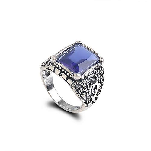 Dokis Mens Classic Vintage Large Blue Sapphire 925 Silver Party Rings Jewelry SZ 6-10 | Model RNG - 4683 | 9 (Best Desktop For Skyrim)