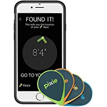 Pixie (2-Pack) – Find Your Lost Items Faster by Seeing Where They are. Lost Item Tracker/Finder for Keys, Luggage, Wallet (iPhone 7 Plus case Included)