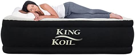 purchase cheap 48cf4 444b3 King Koil Queen Size Luxury Raised Air Mattress - Best ...