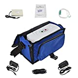 HUKOER OxygenCarry Unit, 3L/min Outlet Built-in Embedded Handle Lightweight Design, with Bag and battety