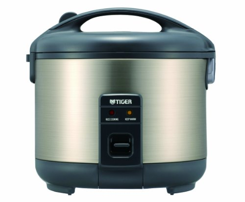 (Tiger JNP-S10U-HU 5.5-Cup (Uncooked) Rice Cooker and Warmer, Stainless Steel Gray)