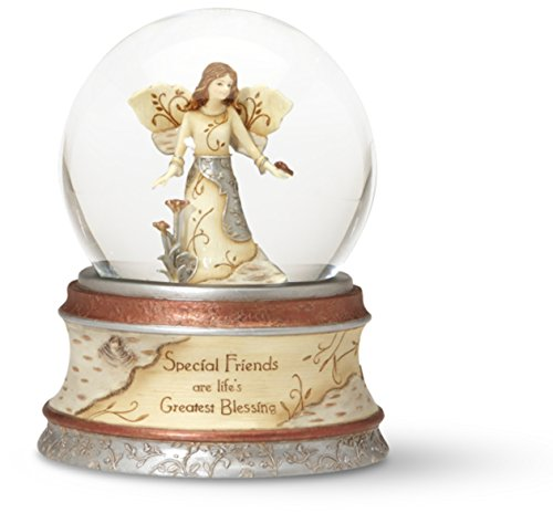Pavilion Gift Company Elements Special Friends 100 mm Musical Waterglobe with Tune -Inch That's What Friends Are For-Inch (Snowglobe Angel Musical)