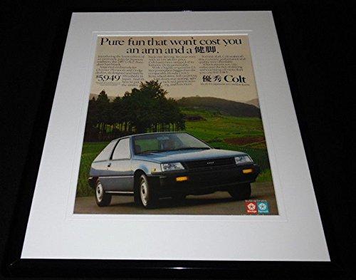 1987 Dodge Colt Hatchback 11x14 Framed ORIGINAL Vintage Advertisement
