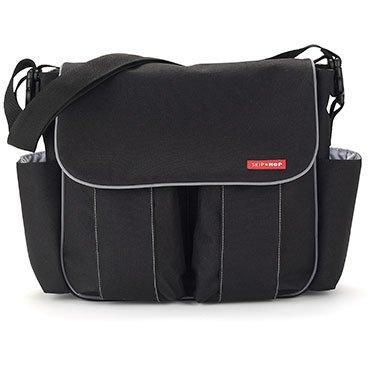 Messenger Diaper Bag Dash (Skip Hop Dash Deluxe, Black (Discontinued by Manufacturer))