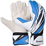 Senston Goalie Goalkeeper Gloves with Finger Spines, Youth Soccer Goalie Gloves Size 9-10