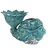 HONGNA Creative Goldfish Nordic Multi-Functional Storage Tissue Box Simple Living Room Coffee Table Dried Fruit Fruit Tray Tray Dual-use 352223cm (Color : Green)