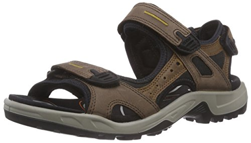 ECCO Men's Yucatan outdoor offroad hiking sandal, Espresso/Cocoa Brown/Black, 46 EU (US Men's 12-12.5 M)