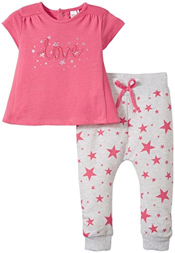 Petit Lem Baby Girls' Little Star Pink 2 Piece Set, Grey, 18M ()