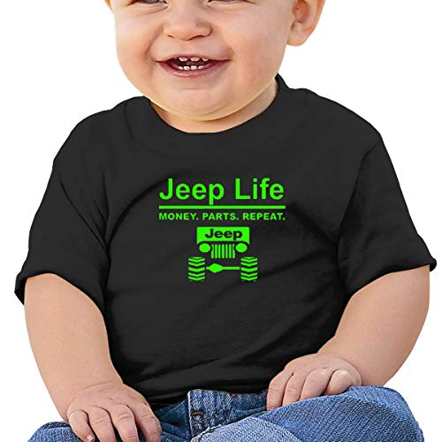 Jeep Life Money Parts Repeat 1 Short-Sleeve T Shirts Baby Girl Black