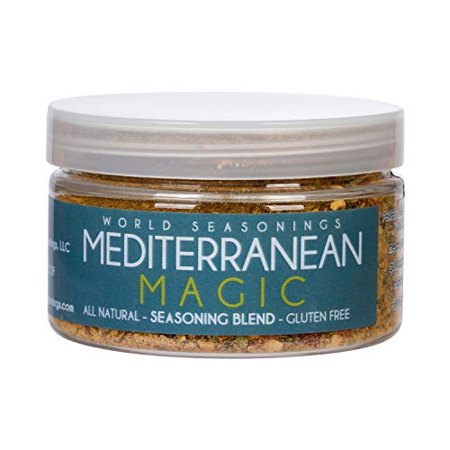 Mediterranean Seasoning - Zesty Mediterranean Spices Perfect for Lamb Shank, Kabobs, Quinoa, Fish, Vegetables & a Mediterranean Diet: Gluten Free, Vegan & No MSG All-Purpose Seasoning