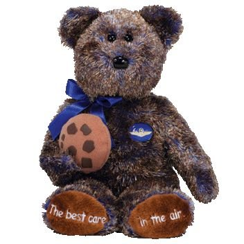 TY Beanie Baby - CHOCOLATE CHIP the Bear (Midwest Airlines ()