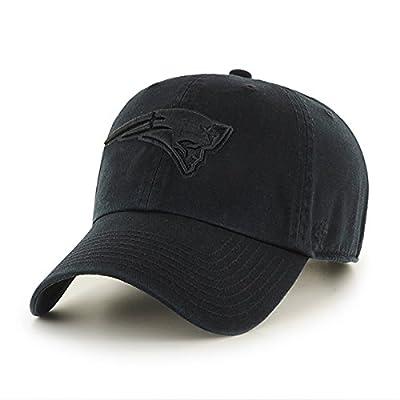 New England Patriots Hat NFL Authentic 47 Brand Clean Up Adjustable Strapback Black Football Cap Adult One Size Men & Women 100% Cotton