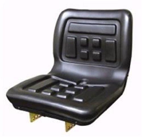Seat Compact Tractor Polyurethane with Flip Brackets Black Yanmar Ford Massey Ferguson International Kubota New Holland Mitsubishi 2000 35 384 Cub Lo-Boy 790 870 4500 220 TC35 TC45 284 TC40 1910 1700 All States Ag Parts