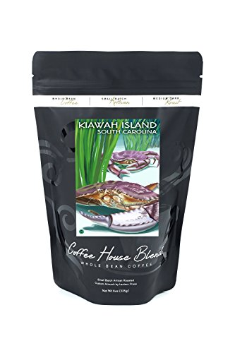Kiawah Island, South Carolina - Dungeness Crab (8oz Whole Bean Small Batch Artisan Coffee - Bold & Strong Medium Dark Roast w/ Artwork)