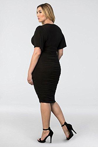 Increspato Plus Sposo Sposa Vestito Nero Size 13121806 Rumor Del Madre Stile dHRxqw