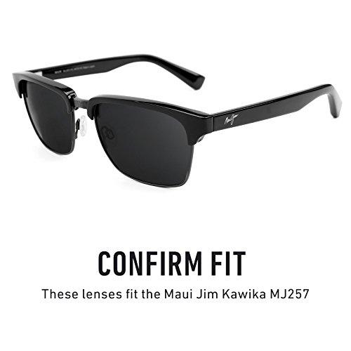 Verres de rechange pour Maui Jim Kawika MJ257 — Plusieurs options Vert Emeraude MirrorShield® - Polarisés