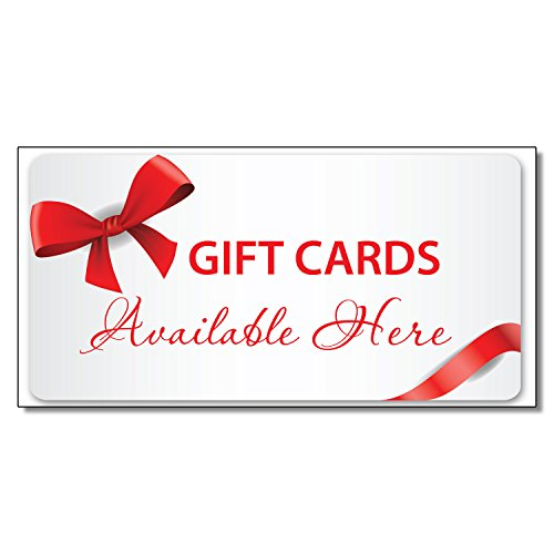Gift Cards Available Here Business DECAL STICKER Retail Store Sign 9.5 x 24 inches by Fastasticdeals