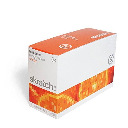 Skratch Labs Fruit Drops Energy Chews - Orange Single Pouch 10 Pack