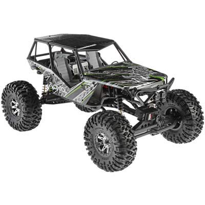 Axial Wraith 4WD RC Rock Racer Off-Road 4x4 Electric RTR with 2.4GHz Radio  LED Light Kit, 1/10 Scale RTR