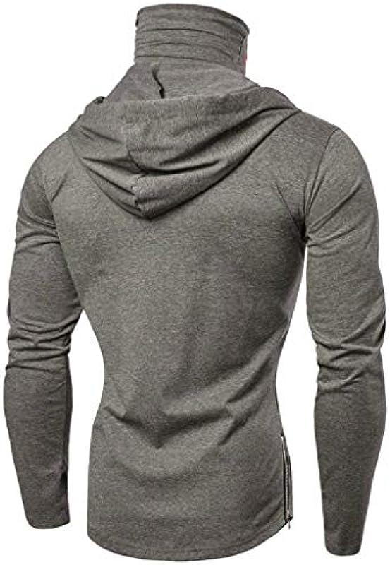 CCIKun męska bluza z kapturem z długim rękawem, sportowa bluza z kapturem z maską z czaszką, regulowany sznurek, moda Slim Fit Training bluza męska, sportowa, na jesień i zimę, top M-3X