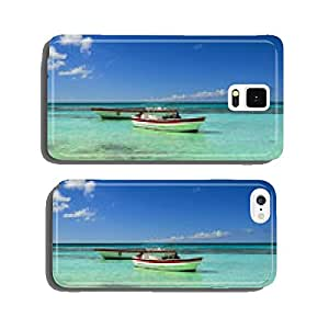 Boats on the azure sea on a background of blue sky cell phone cover case Samsung S5