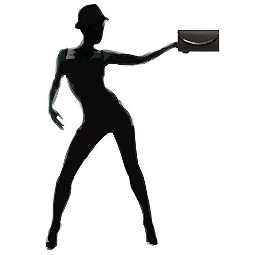 Sac À Forme Baguette Pochette Longue Femme Soirée Chaînette Main Noir Caspar Avec Pour Ta383 De Hzq58I