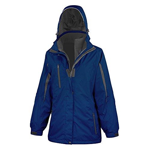 Result - Chaqueta softshell 3 en 1 con capucha modelo Journey para mujer Azul/negro