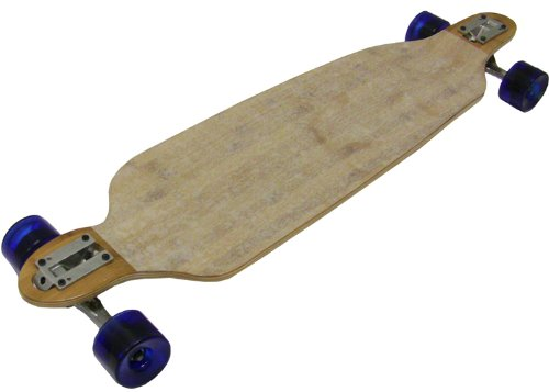 TGM Skateboards RACING LONGBOARD - Bamboo Double Drop (Down,Through) 76mm Wheels Abec 7 Bearings by TGM Skateboards