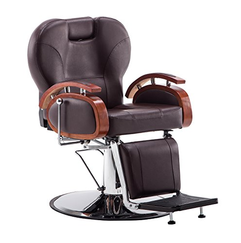 Exacme Hydraulic Recline Barber Chair Salon Beauty Spa Shampoo Chair 8705 (Brown) by Exacme