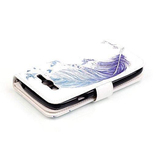 Para Smartphone Samsung Galaxy Grand Neo i9060funda Flip cover funda piel [Tarjetero] funda piel cartera Executive Diseño + Polvo Conector blanco 10 10