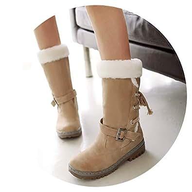 Amazon.com | Women Boots Classics Mid Calf Boots Patform
