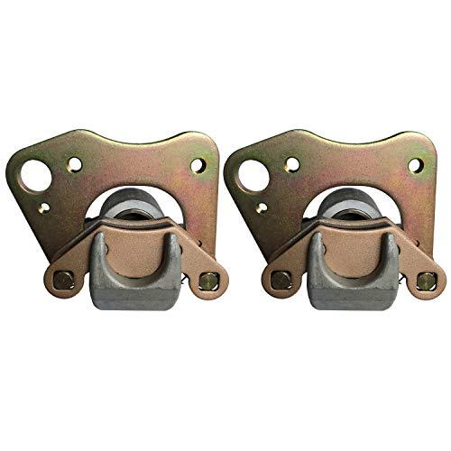 Zinger Front Brake Caliper Set(Left&Right)w/Pads for Polaris 500 Sportsman Touring 08-2013+Polaris 500 Sportsman 4x4 96-2001+01-2014 Sportsman 400 etc,Replacement No.# 1910841/1911540/1910842/1911541