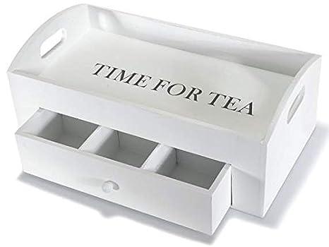 Vassoi In Legno Fai Da Te : Ideapiu vassoio in legno con cassetto per bustine da tè vassoio