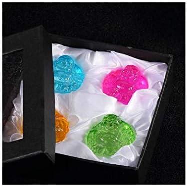 Set van 4 lachende bouddDHA in kleurengeluk geluk en geluk